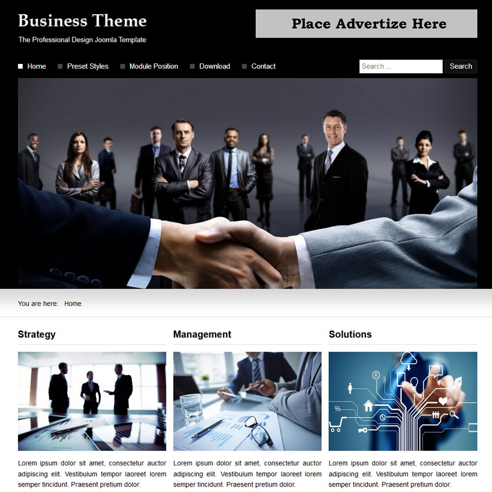 Business theme responsive joomla template business theme joomla templates cheaphphosting Choice Image